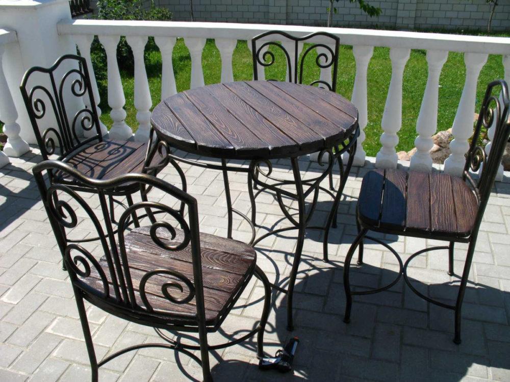 Кованые столы в интерьере
