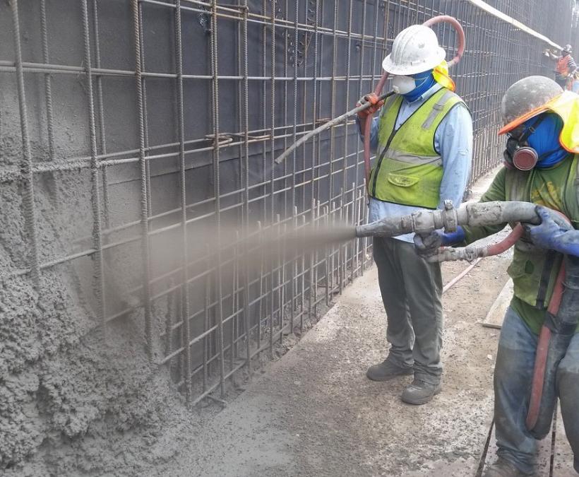 Применение торкрет-бетона, преимущества технологии торкретирования