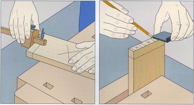 Соединение ласточкин хвост, выполненное своими руками