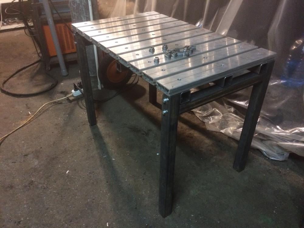 Сварочный стол, изготовленный своими руками для работы сварщика