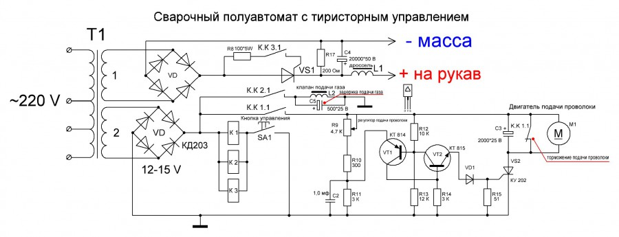 Сварочный полуавтомат своими руками: изготовление из инвертора и трансформатора