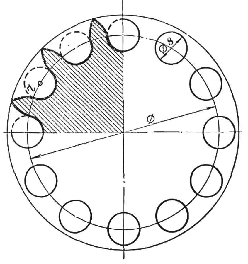 Программа расчета звездочек цепной передачи