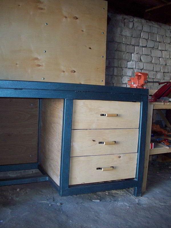 Верстак из дерева в гараж своими руками: чертежи и размеры