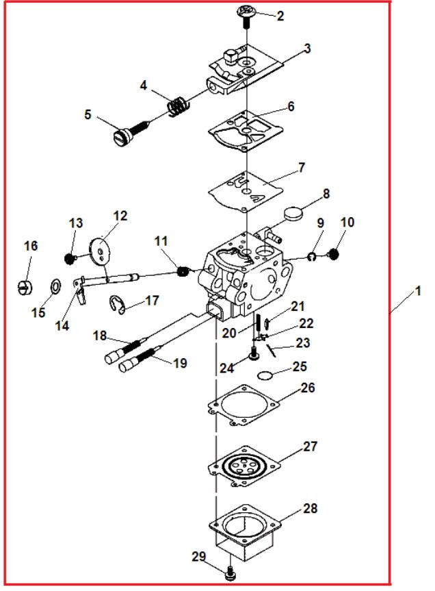 Карбюратор триммера: схема и принцип работы, причины основных неисправностей, регулировка своими руками