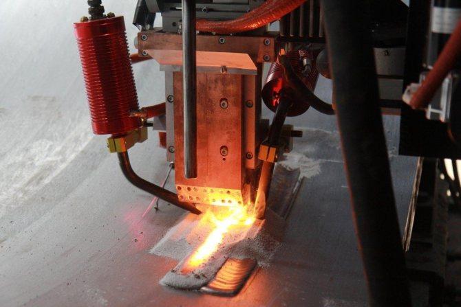 Технология выполнения электрошлаковой сварки