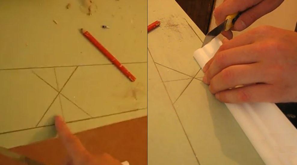 Как резать потолочный плинтус в углах – варианты и способы