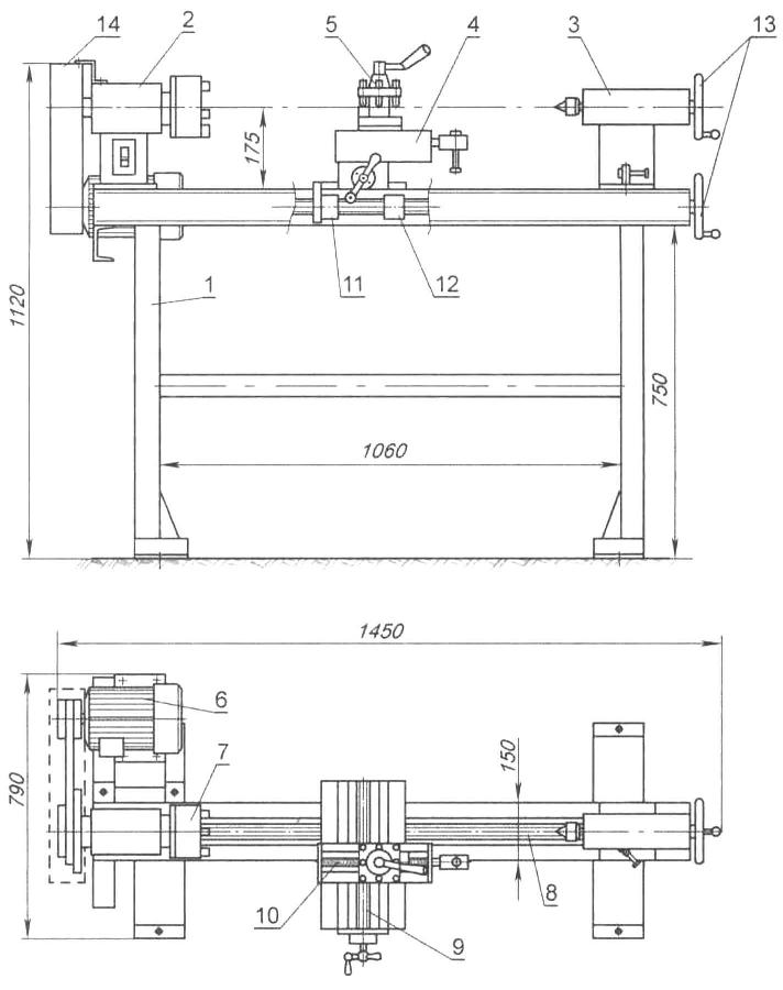Как изготовить токарный станок по металлу своими руками?