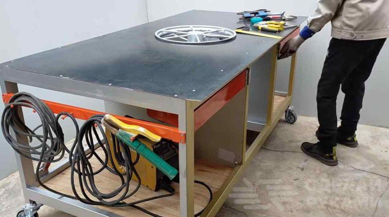 Сварочный стол своими руками: чертеж и схемы создания в домашних условиях