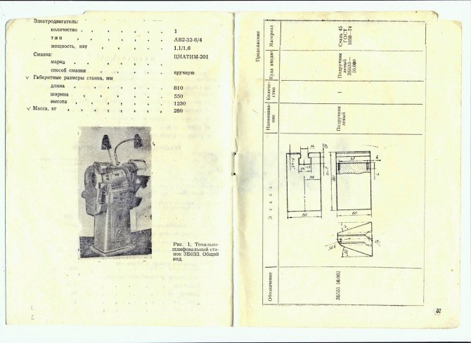 3м634 станок обдирочно-шлифовальный на тумбе. паспорт, схемы, характеристики, описание