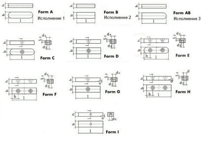 Шпоночные соединения. виды шпонок: призматические, сегментные, клиновые