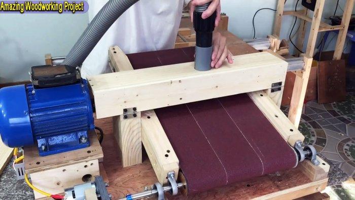 Как сделать шлифовальный станок по дереву своими руками