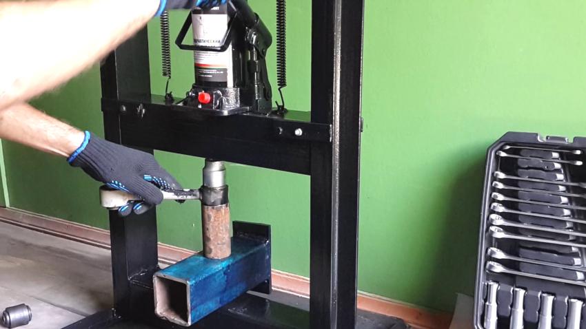 Самодельный пресс из домкрата — пошаговая инструкция изготовления эффективного устройства своими руками (135 фото)