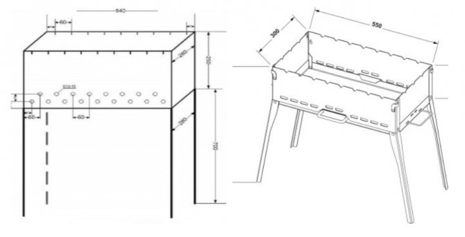 Мангал своими руками из металла: чертежи, фото, инструменты и этапы работ