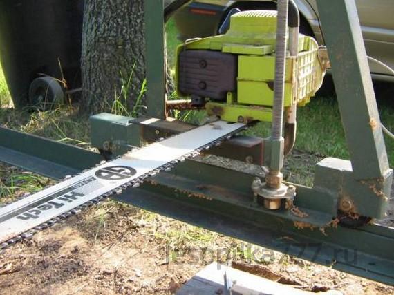 Как сделать самодельную мини-пилораму из бензопилы своими руками