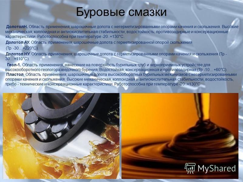 Разновидности смазочных материалов — популярные фирмы смазок