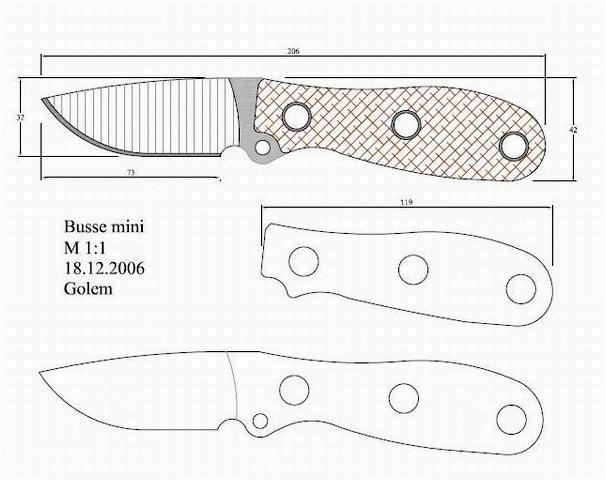 Чертежи метательных ножей. скачай здесь