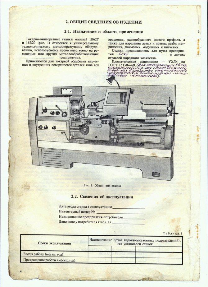 Инструкция по эксплуатации токарного станка 1к62д, технические характеристики