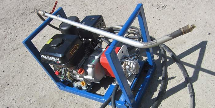 Пневмосистема и структура подогрева битума в цистерне автогудронатора