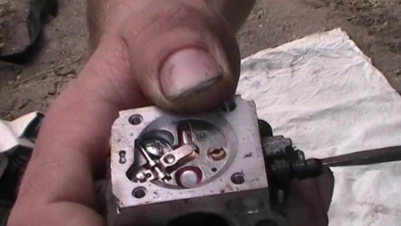 Пила штиль глохнет при нажатии на газ