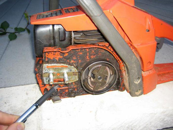 Устройство и ремонт масляного насоса бензопилы