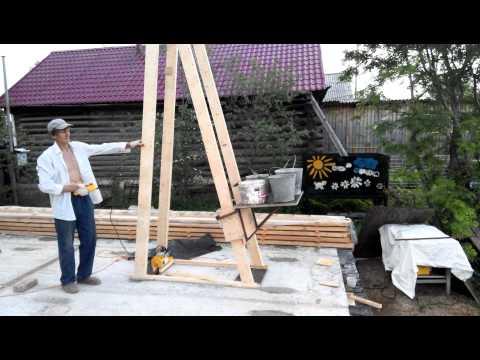 Как сделать самодельный подъемный кран своими руками (видео)
