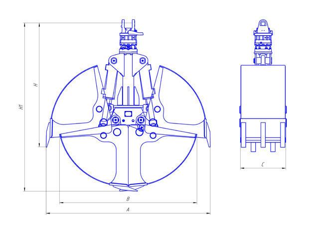 Грейферный экскаватор-погрузчик пэа-1а: конструкция, технические характеристики, фото и видео