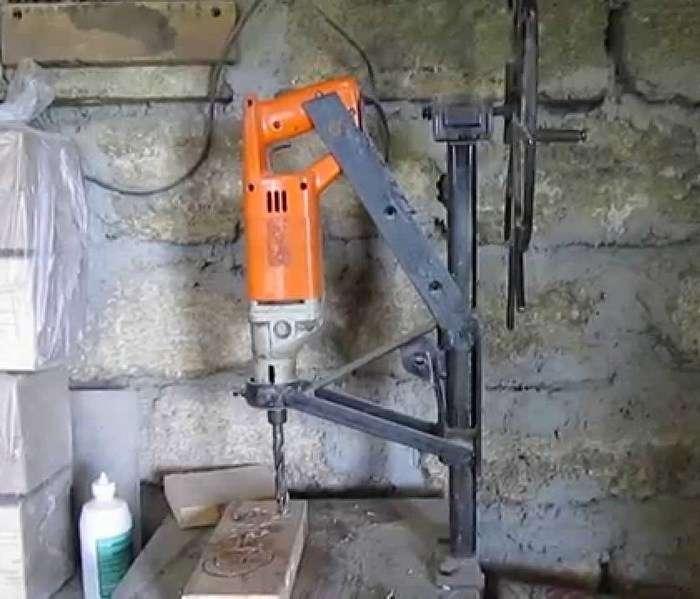 Сверлильный станок своими руками из дрели - чертежи с размерами