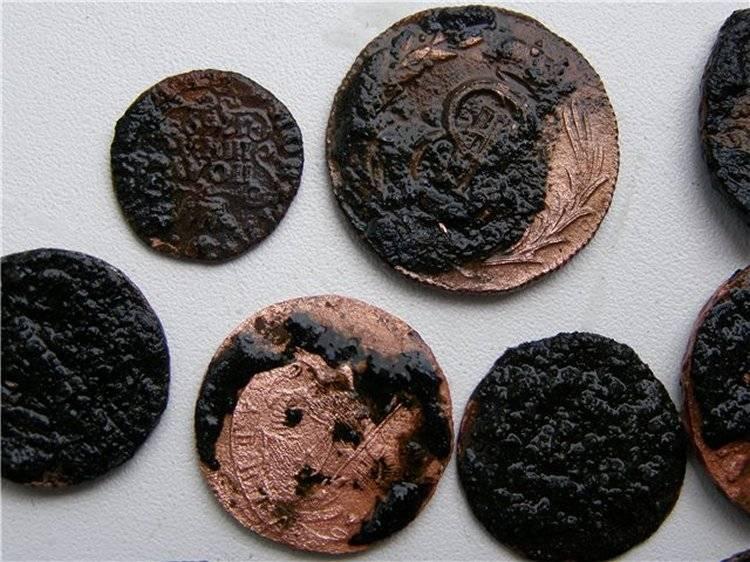 Старинные медные монеты станут как новые