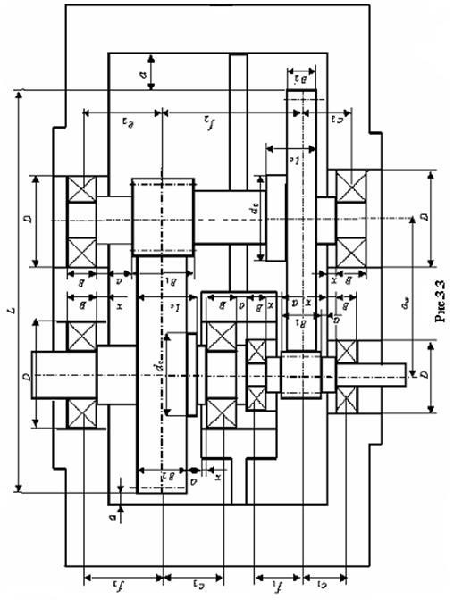 Цилиндрические двухступенчатые редукторы