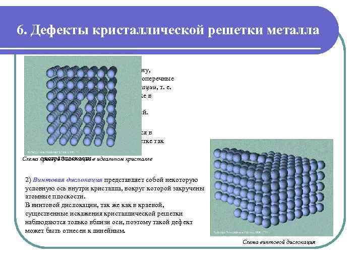 Дефекты в кристаллах - все виды с подробным описанием