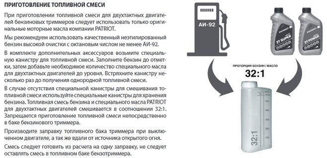 Масло и как разводить с бензином для бензопилы