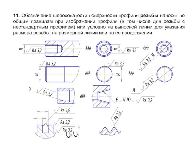 Гост 2.309-73 ескд. обозначения шероховатости поверхностей