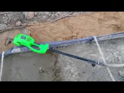 Вибратор глубинный для бетона своими руками на основе дрели и перфоратора