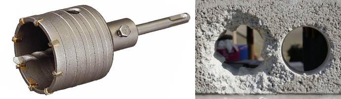 Перфоратор по бетону: как просверлить стену? какую насадку лучше использовать бур, зубило или фрезу? как подобрать размер сверла?