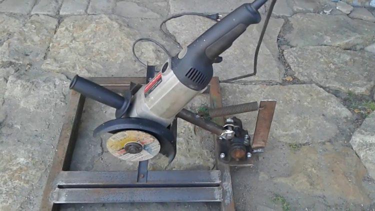 Отрезной станок из болгарки, выполненный своими руками из металла по чертежу