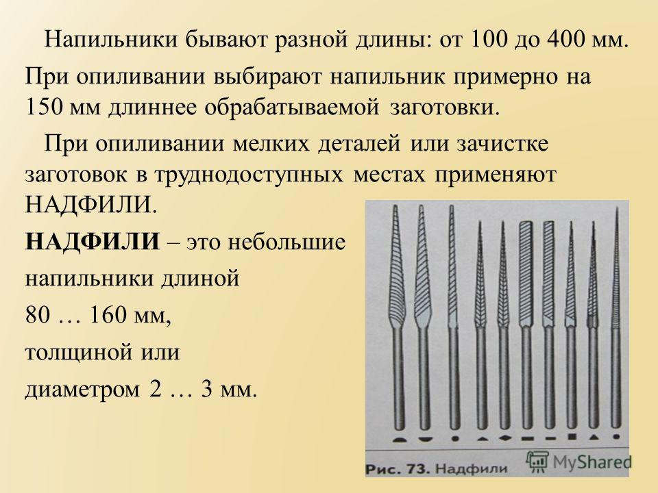 Популярные модели напильников и надфилей на 2021 год