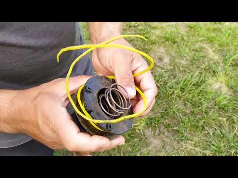 Как заправить леску в катушку триммера: инструкция по намотке