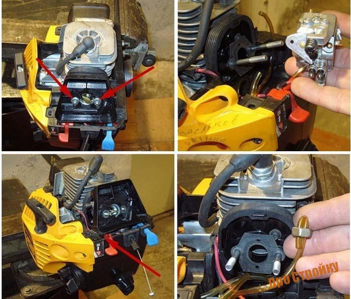 Неисправности бензопилы партнёр 350, ремонт и регулировка карбюратора своими руками - видео инструкция