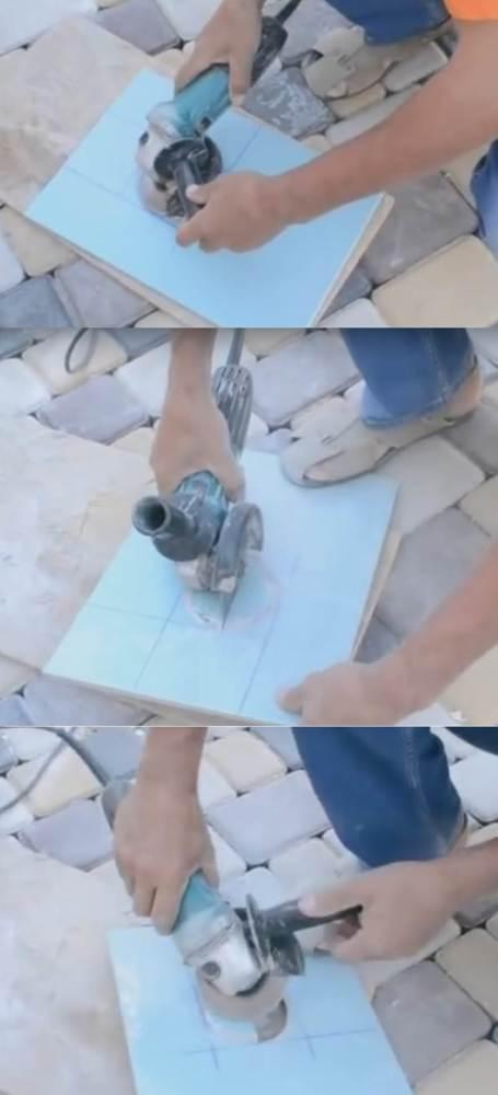 Технология резки керамической плитки болгаркой