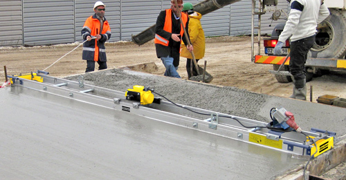 Виброрейка для укладки бетона. параметры выбора