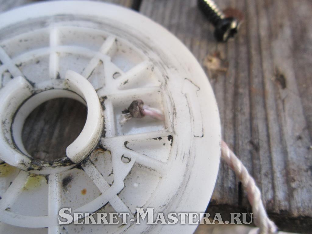 Бензопила хутер ремонт стартера