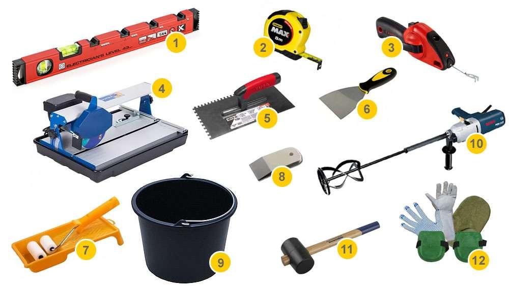 Инструмент для укладки плитки для выполнения работ
