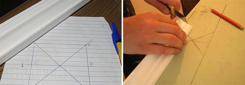 Как сделать угол на потолочном плинтусе с помощью стусла - пошаговая инструкция