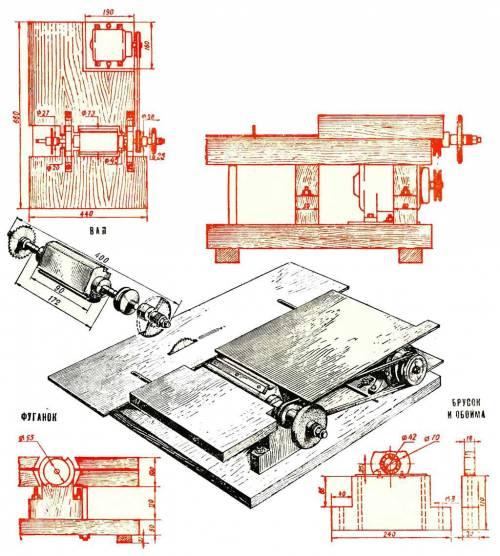 Станки по дереву для домашней мастерской — чертежи, инструкции и фото-примеры