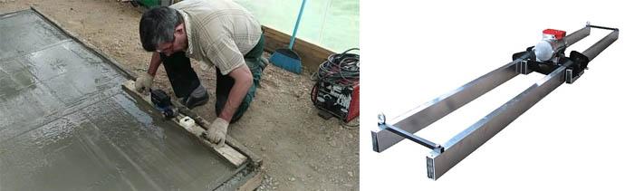 Виброрейка для бетона - разновидности и принцип действия