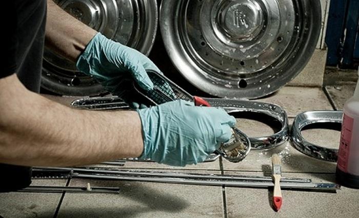 Восстановление хромированных деталей авто своими руками