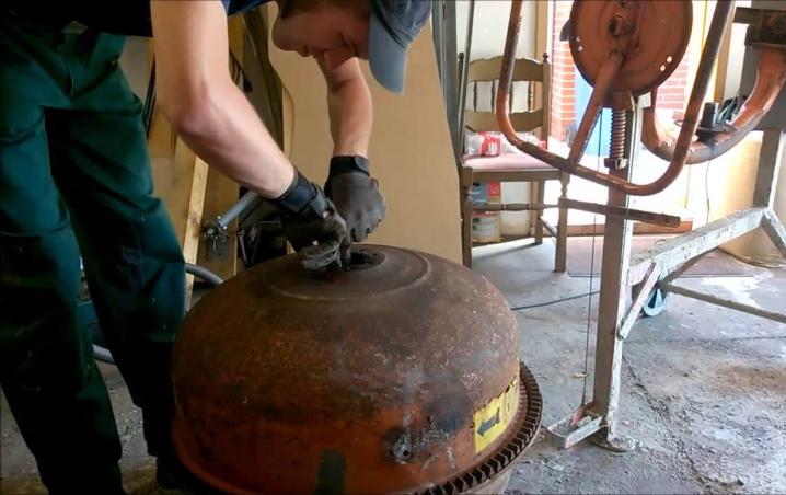 Ремонт бетономешалки своими руками: как разобрать, поменять подшипник, снять бочку, шкив, принцип работы и устройство