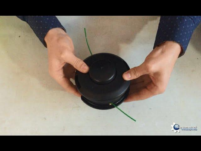Учимся правильно наматывать леску на катушку триммера и бензокосы инструкция по установке – мои инструменты