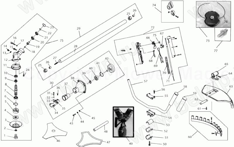 Чем смазывать редуктор триммера: места смазки триммера