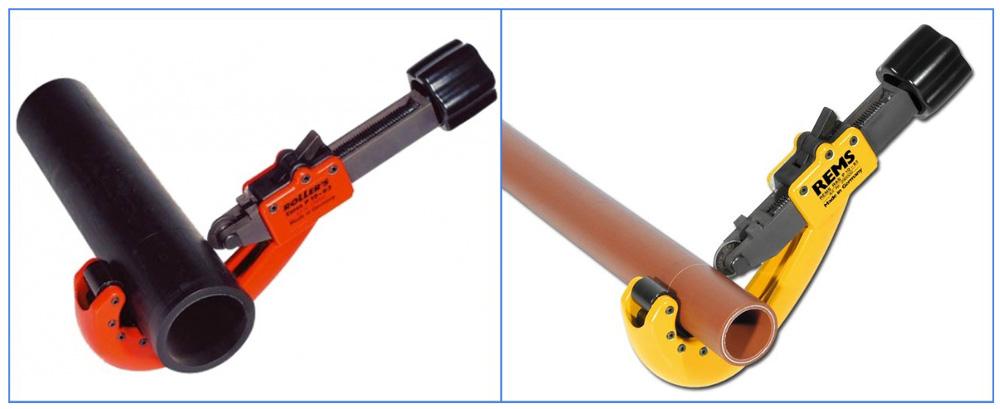 Труборезы для полипропиленовых труб — роликовые, гильотинные, аккумуляторные